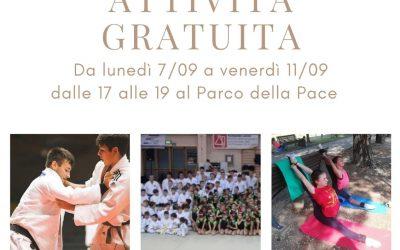 La prima settimana di Settembre vieni a provare la ginnastica ed il Judo